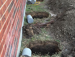 Concrete piers Dallas, Fort Worth installation.