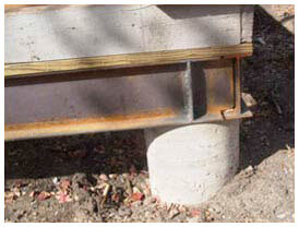 Foundation repair on pier and beam design