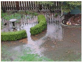 Drainage systems french drain dallas fort worth for Backyard flooding solutions