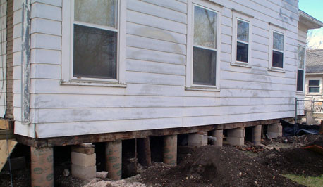 Pier and beam foundation repair costs and average price for Old house foundation types
