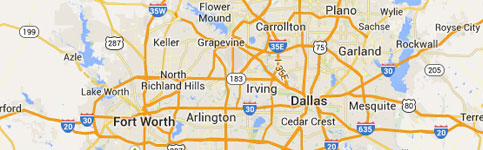 Foundation Repair Service Area in DFW