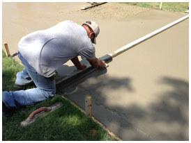 Concrete driveway repair in Arlington, TX.