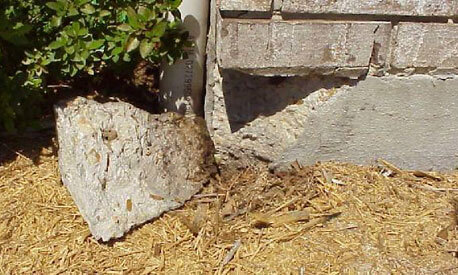 Home Foundation Cracked Corner