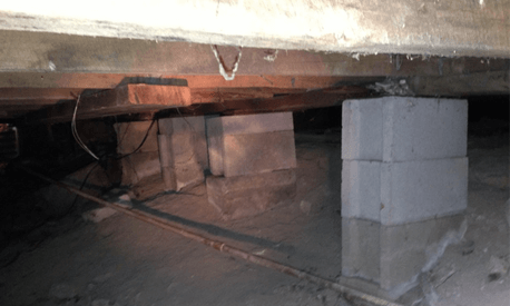 Damaged Pier and Beam Foundation