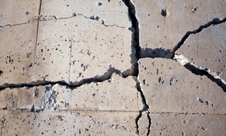 Slab foundation repair problems in Texas include cracking.