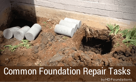 Common Tasks Involving Foundation Repair