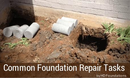 Common Foundation Repair Tasks