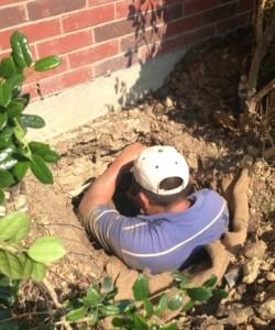 Slab foundation repair Irving TX on settling house with cracks