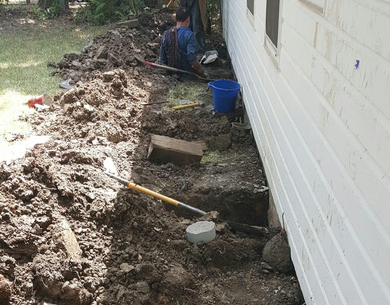 Foundations often sink or settle