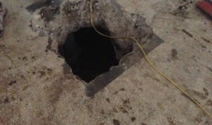 When foundation upheaval occurs in a concrete slab foundation,serious damage occurs.
