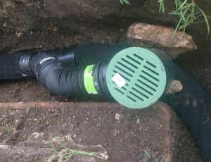 Home drainage correction
