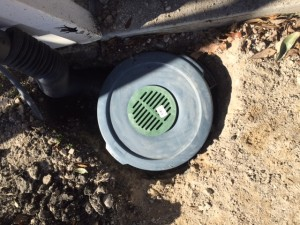 Install of French drain in Mansfield, surface drain installations