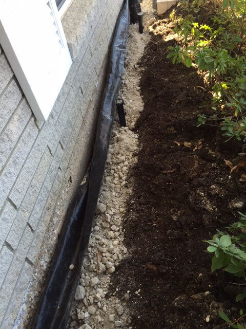 Drainage systems grand prairie tx french drains surface for Outside drainage system