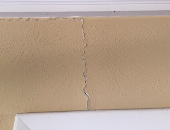 Sheetrock cracks can be signs of foundation problems.
