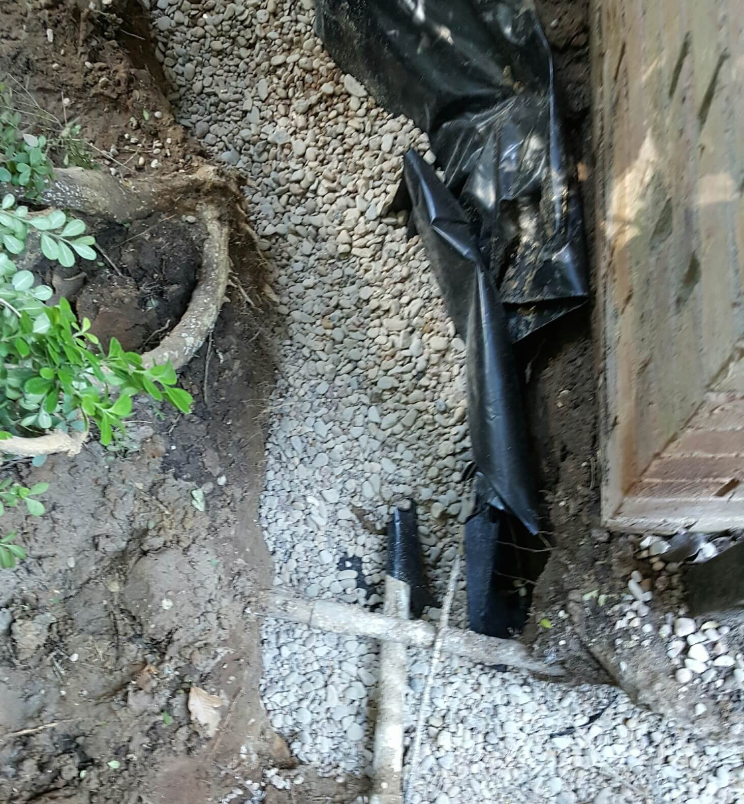 Why install french drains around foundations hd foundations for French trench drain