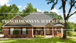french drains vs surface drains