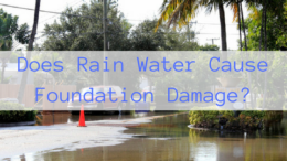 Does Rain Water Cause Foundation Damage?