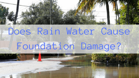 Does Rain Water Cause Foundation Damage-