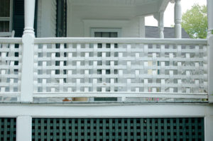 photo of residential porch with foundation lattice